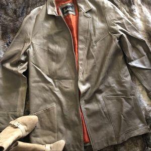 RARE *Harrods London designer soft leather jacket